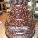 130x130 sq 1418400606554 poured chocolate tiered birthday cake