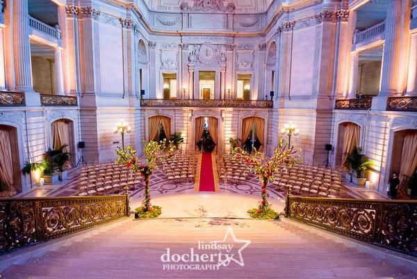 Avant Garde Romantic Pink Altar Arch Arrangements