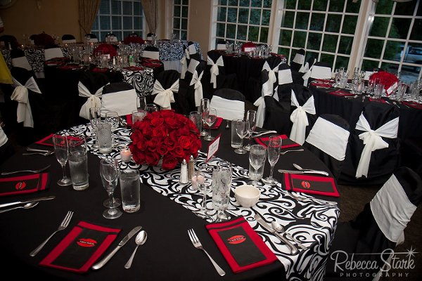 Awesome Red White Black Wedding Decorations Photos - Style and ...
