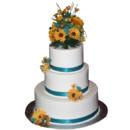 130x130 sq 1414698449384 3 tier white  teal fresh flowers