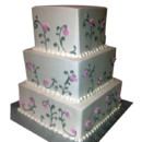 130x130 sq 1415145779349 3 tier wedding cake with vines flowers