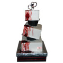 130x130 sq 1454100613085 3 tier topsy turvey cake with dripping blood