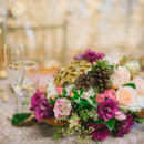 Photo: Photographik  Floral Designer: Flowers by Janie  Invitation Designer: Fairytale Designs  Dress Store: Frocks Modern Bridesmaids  Cake: Cake Sensations  Linens and Coverings: Great Events Group  Makeup Artist: Nicole Richey