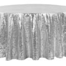 130x130 sq 1484772384984 glitz roundtablecloth silver