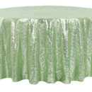 130x130 sq 1484772391407 glitz roundtablecloth mintgreen