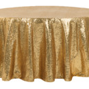 130x130 sq 1484772405562 glitz roundtablecloth gold