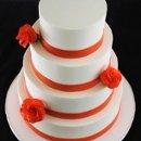 130x130 sq 1349294005033 orangerosebandcake