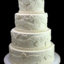 130x130 sq 1420744388971 paisley lace wedding cake