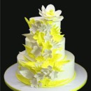 130x130 sq 1420744404188 yellow whimsical embossed flowers wedding cake