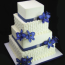 130x130 sq 1420744749345 basket weave with orchids wedding cake