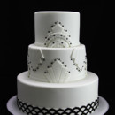 130x130 sq 1433364549491 art deco black  white wedding cake