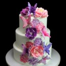 130x130 sq 1433364985733 pink  purple peony  butterfly cake