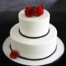 130x130 sq 1449520125300 rose  black pearls wedding cake