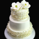 130x130 sq 1449520159298 ruffle  magnolia wedding cake