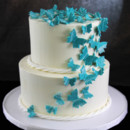 130x130 sq 1449520305379 turquoise butterflies cake