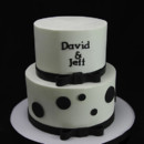 130x130 sq 1449520447516 monogram  bow tie wedding cake