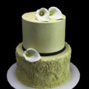 130x130 sq 1449520460062 rosettes with calla lillies cake