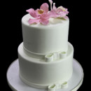 130x130 sq 1449520479194 side bow with orchids wedding cake
