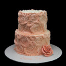 130x130 sq 1449521154303 pink rosettes with rose cake