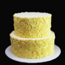 130x130 sq 1449521680875 ivory rosette wedding cake