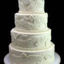130x130 sq 1449524059385 fanciful lace wedding cake
