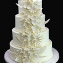 130x130 sq 1449524081574 whimsical embosed flowers wedding cake orlando leo