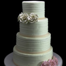 130x130 sq 1449524139842 ivory and pink roses wedding cake