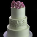 130x130 sq 1449524241531 roses with fanciful lace wedding cake