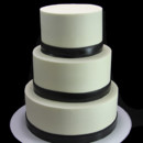 130x130 sq 1449524296995 black thin band trim wedding cake