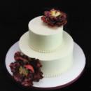130x130 sq 1449524487388 burgundy peony wedding cake