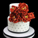 130x130 sq 1459534318581 red peony cluster quilting with dragees cake