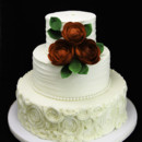 130x130 sq 1459535201635 rosettes  ranunculus wedding cake