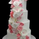 130x130 sq 1466010145387 pink cascading roses  magnolia wedding cake