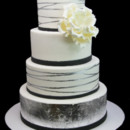 130x130 sq 1479491605730 silver leaf tier with giant peony cake