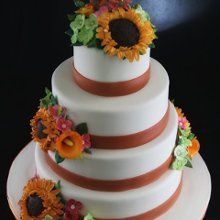 220x220 sq 1349293982389 multiflowerweddingcake1