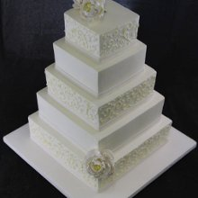 220x220 sq 1357852990221 5tierscrollweddingcakewithpeonies