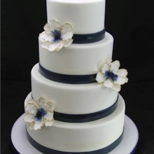 220x220 sq 1420744376656 blue thin band with anemone wedding cake