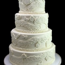 220x220 sq 1420744388971 paisley lace wedding cake