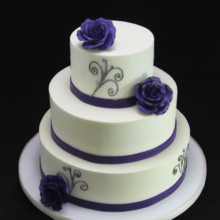 220x220 sq 1420745370795 purple rose  silver wedding cake
