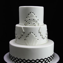 220x220 sq 1433364549491 art deco black  white wedding cake