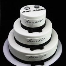 220x220 sq 1433365150818 love is wedding cake