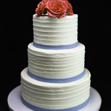 220x220 sq 1433365154565 trio of roses with thin band wedding cake