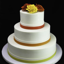 220x220 sq 1433365193961 colorful trio of roses wedding cake