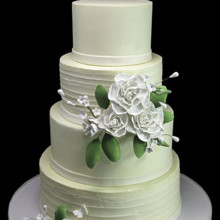 220x220 sq 1443811412427 white roses weddding cake