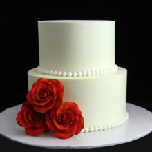 220x220 sq 1449520133173 rose  pearl wedding cake