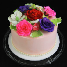 220x220 sq 1449520141947 rose bouquet cake