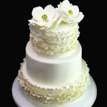 220x220 sq 1449520159298 ruffle  magnolia wedding cake