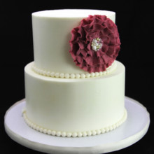 220x220 sq 1449520167844 ruffle flower wedding cake 2