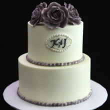 220x220 sq 1449520312678 wedding cake with roses  pearls