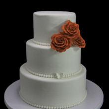 220x220 sq 1449520349167 trio of roses wedding cake